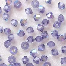 3mm Preciosa Crystal Bicone Tanzanite AB - 20